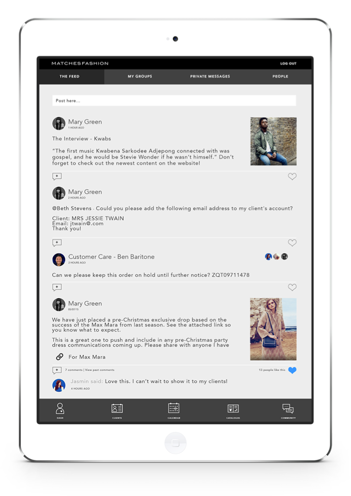 proximity insight brand hub ipad