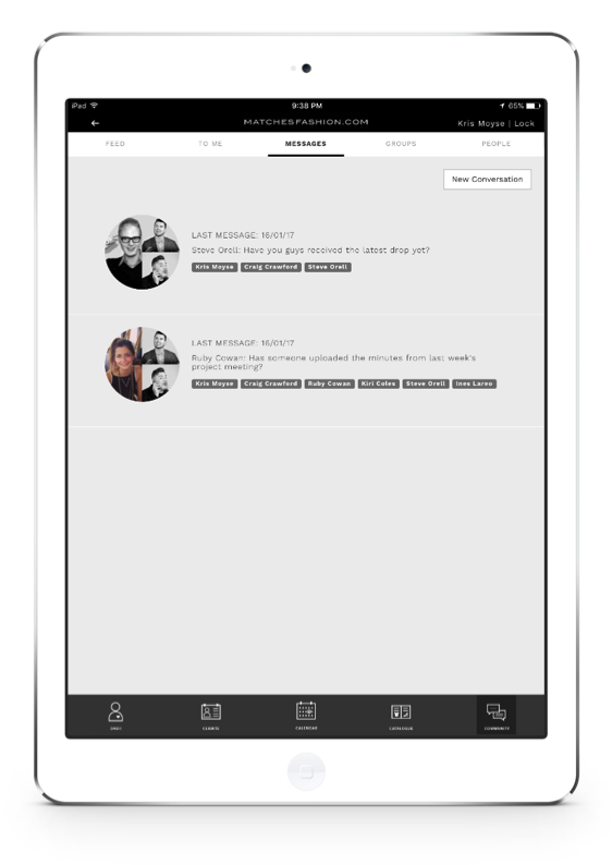 proximity insight personal messaging ipad